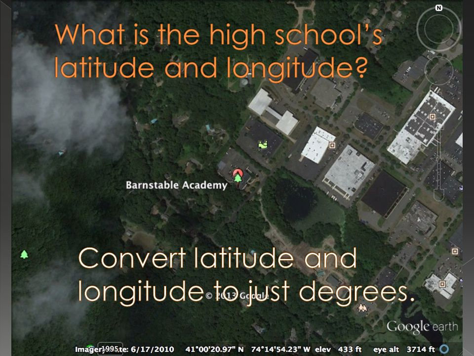 What is the high school's latitude and longitude