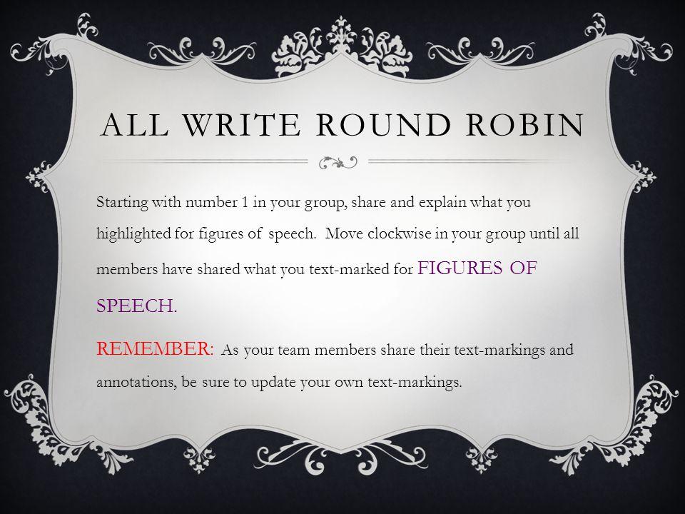 All write Round Robin