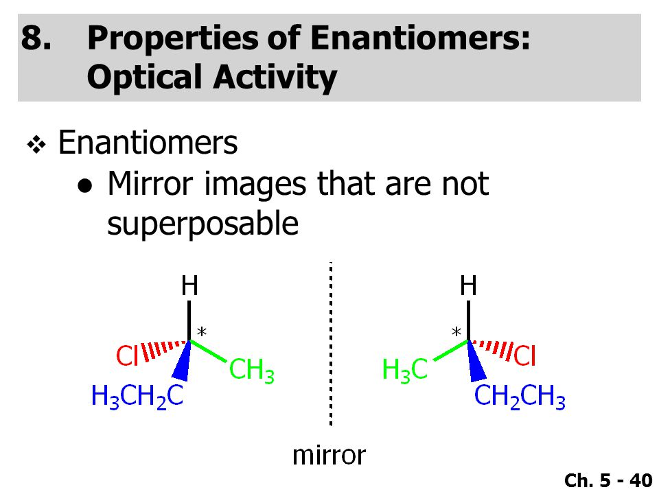 Properties of Enantiomers: Optical Activity