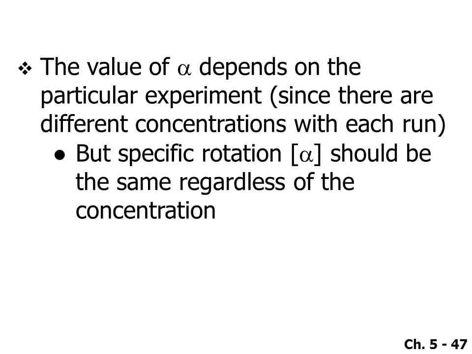 The value of a depends on the particular experiment (since there are different concentrations with each run)