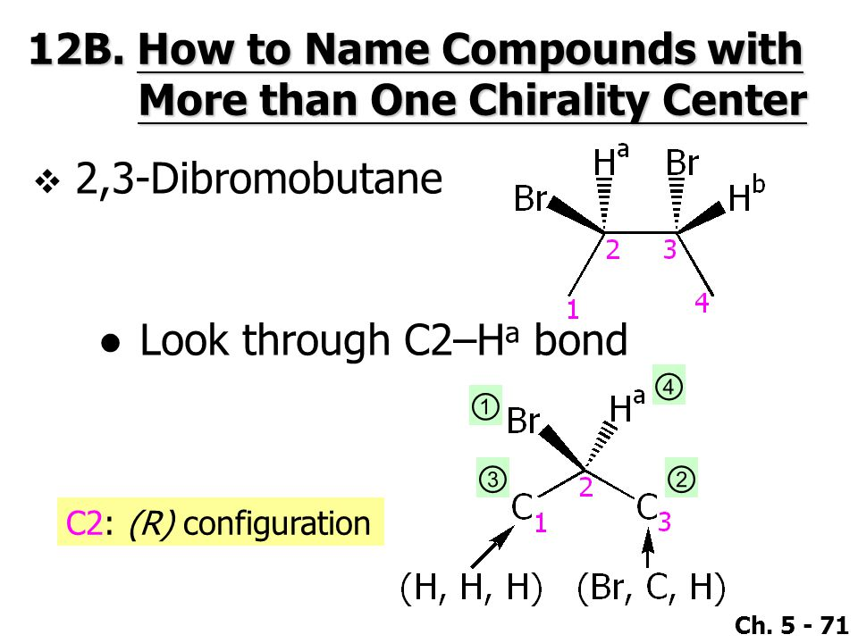 12B. How to Name Compounds with More than One Chirality Center