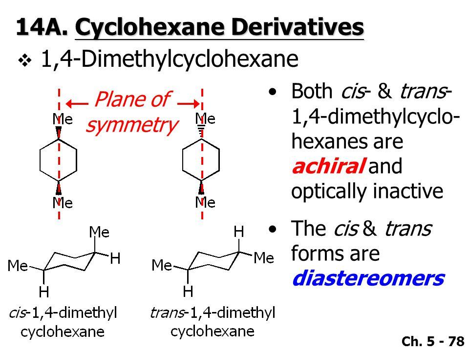 14A. Cyclohexane Derivatives 1,4-Dimethylcyclohexane