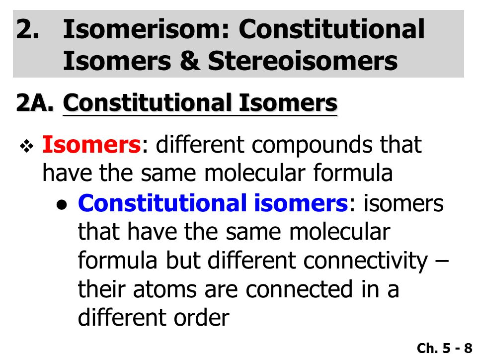 Isomerisom: Constitutional Isomers & Stereoisomers