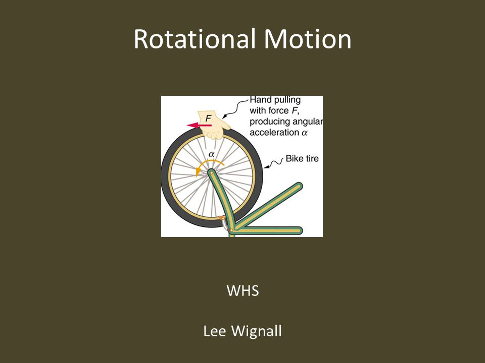 Rotational Motion WHS Lee Wignall