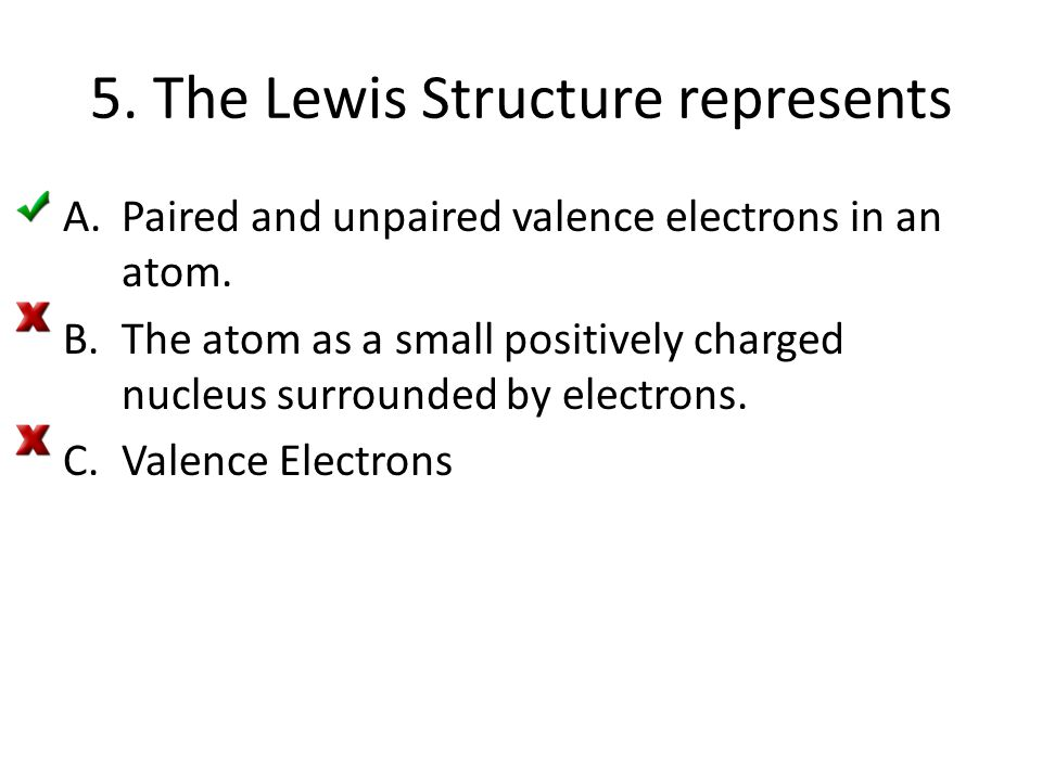 5. The Lewis Structure represents