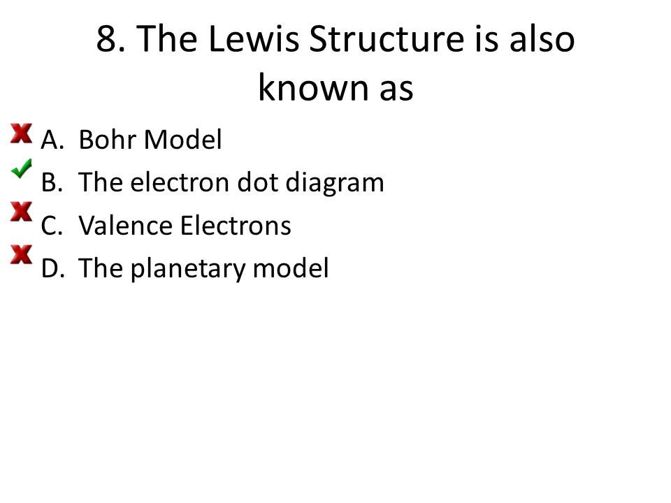 8. The Lewis Structure is also known as