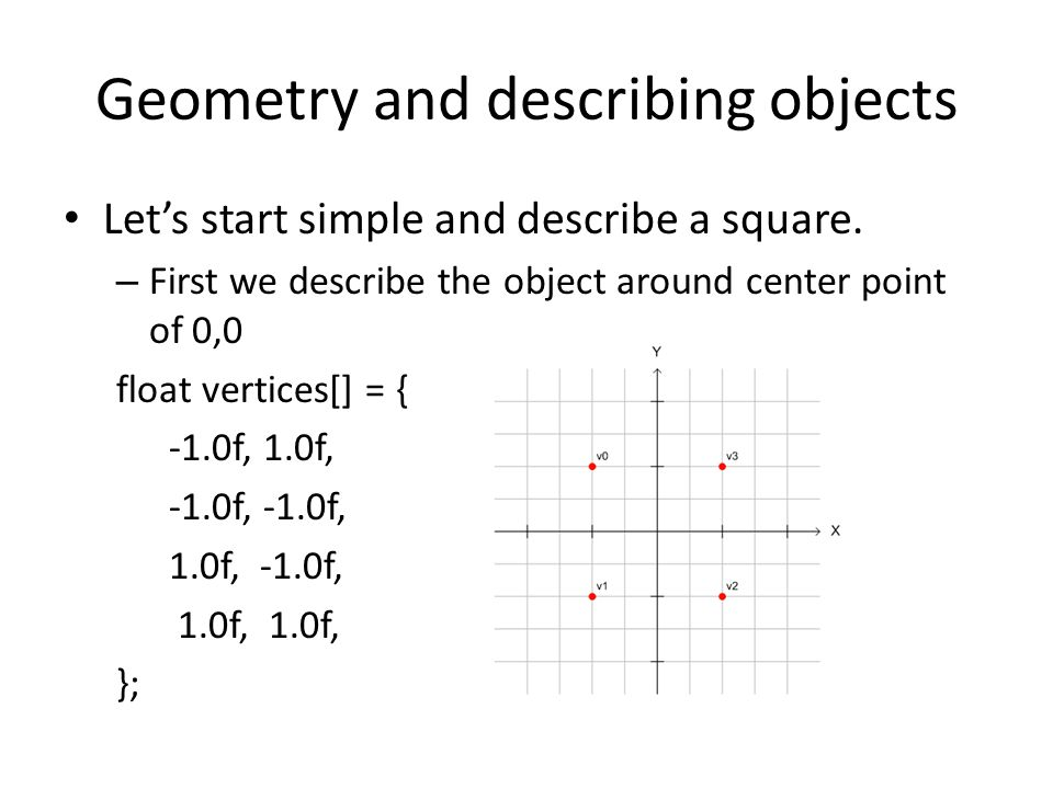 Geometry and describing objects