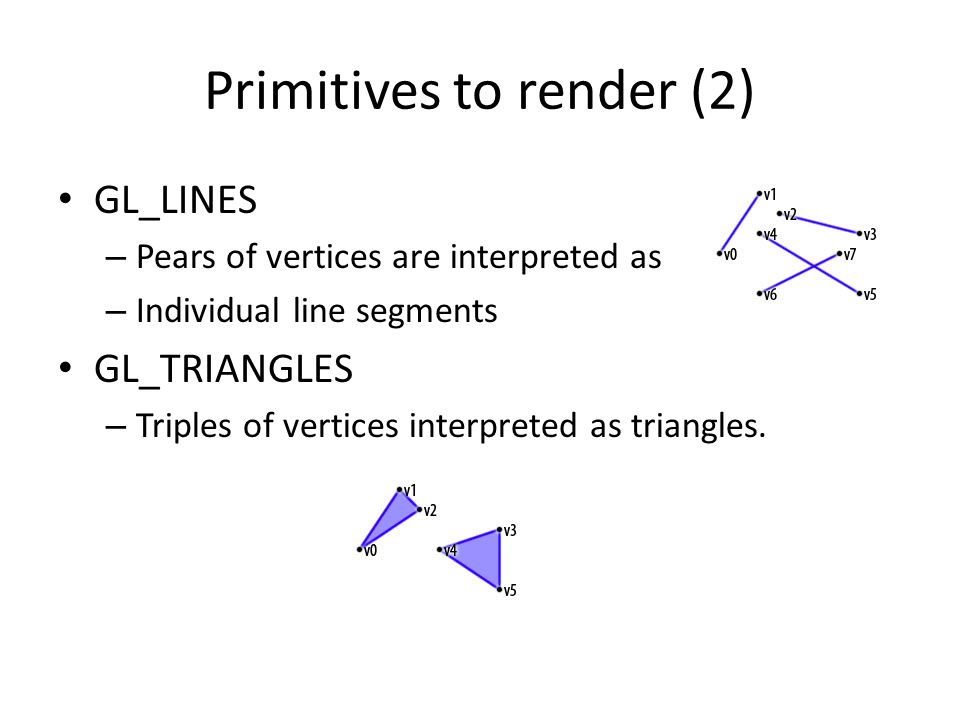 Primitives to render (2)