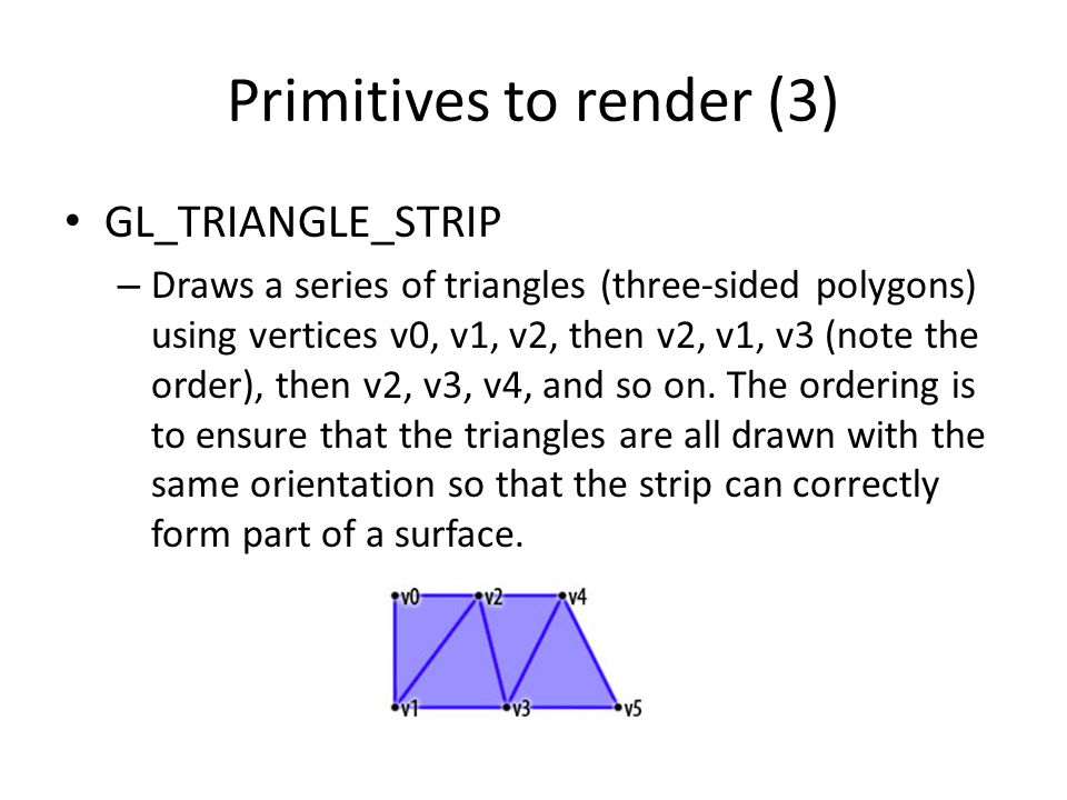 Primitives to render (3)