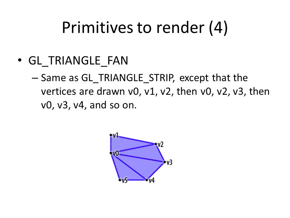 Primitives to render (4)