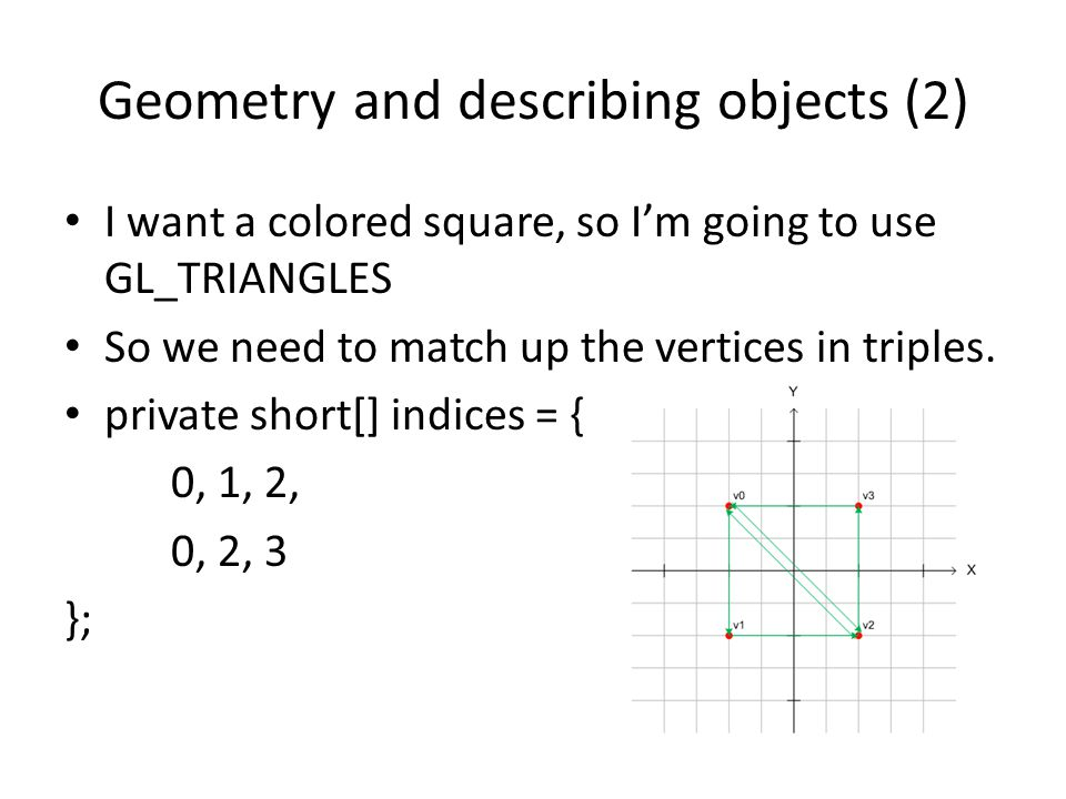 Geometry and describing objects (2)