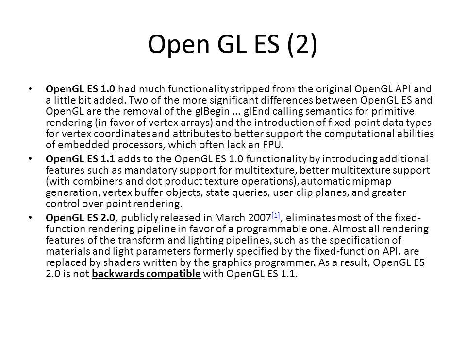Open GL ES (2)
