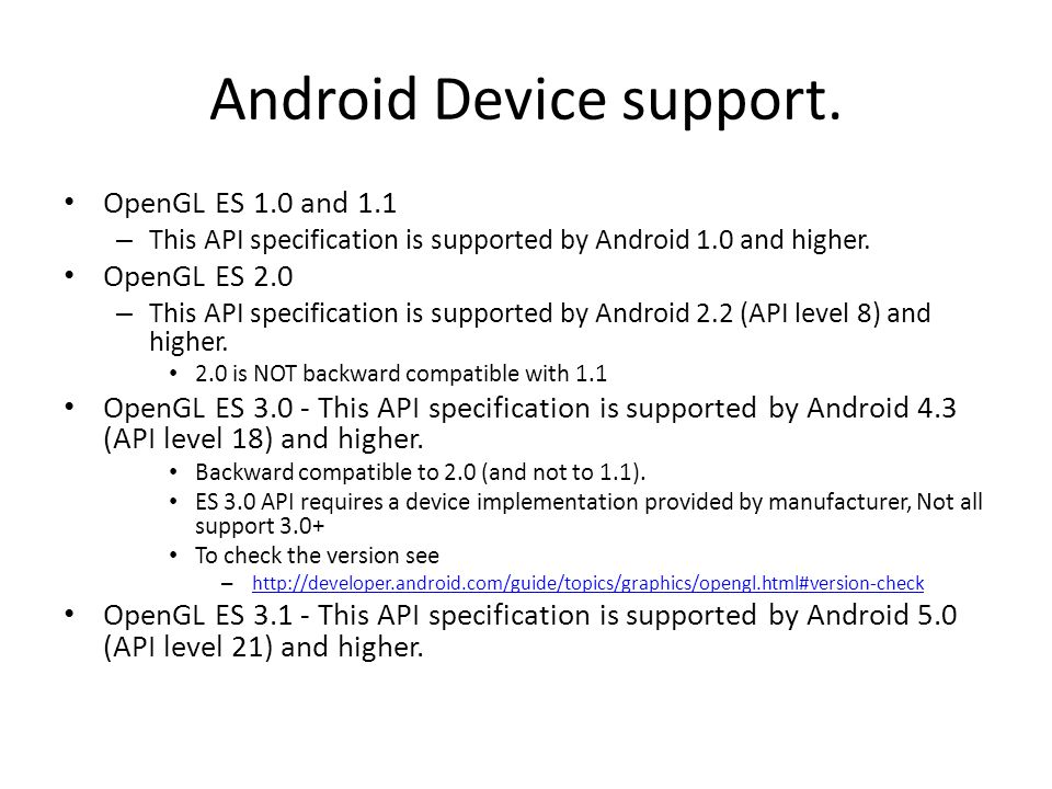 Android Device support.