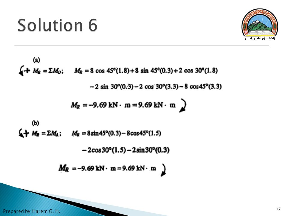 Solution 6 Prepared by Harem G. H.