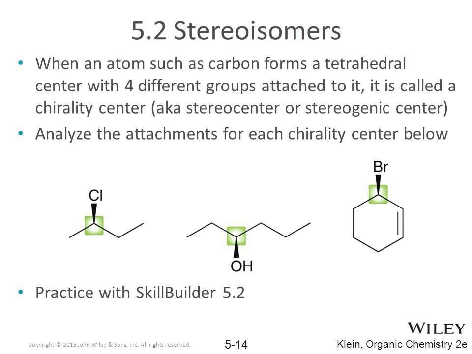 5.2 Stereoisomers