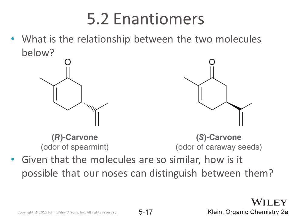 5.2 Enantiomers What is the relationship between the two molecules below