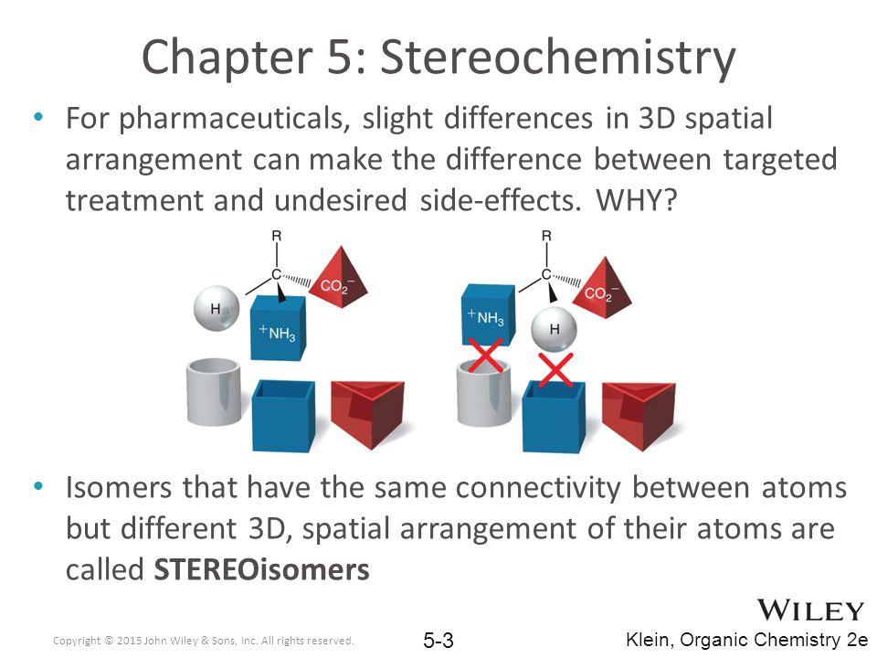 Chapter 5: Stereochemistry