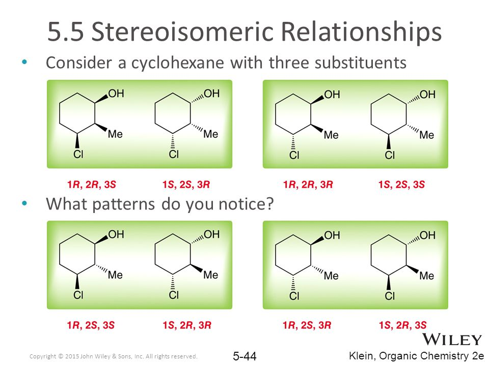 5.5 Stereoisomeric Relationships