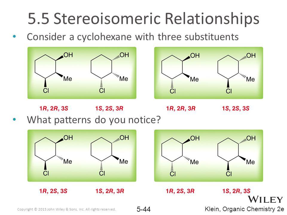 5.5 Stereoisomeric Relationships