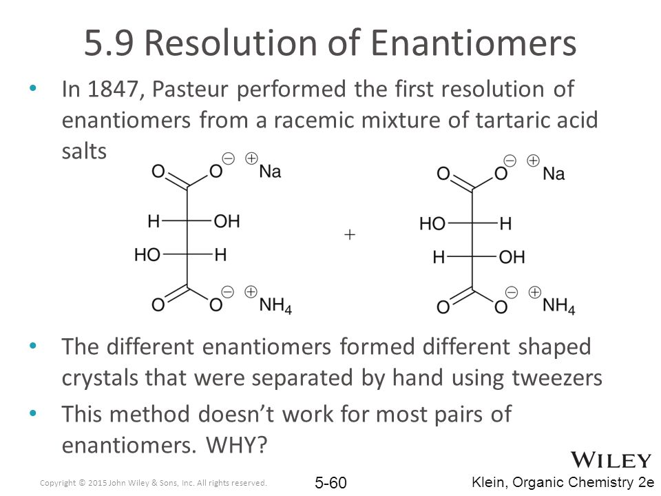 5.9 Resolution of Enantiomers