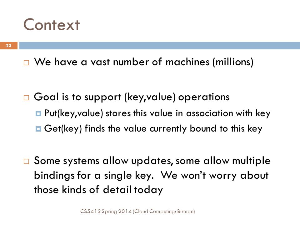 Context We have a vast number of machines (millions)