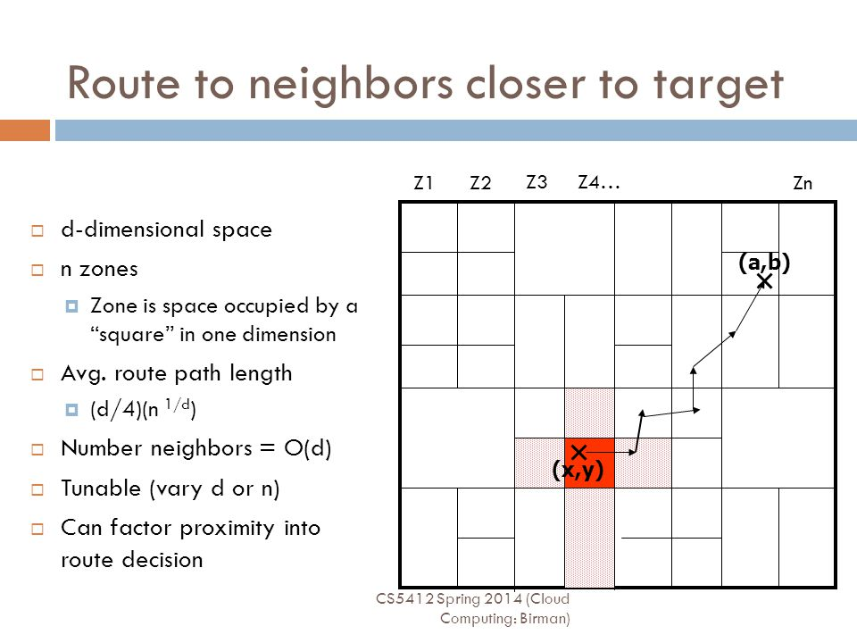 Route to neighbors closer to target