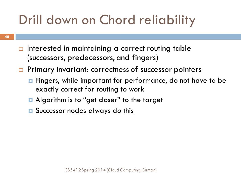 Drill down on Chord reliability