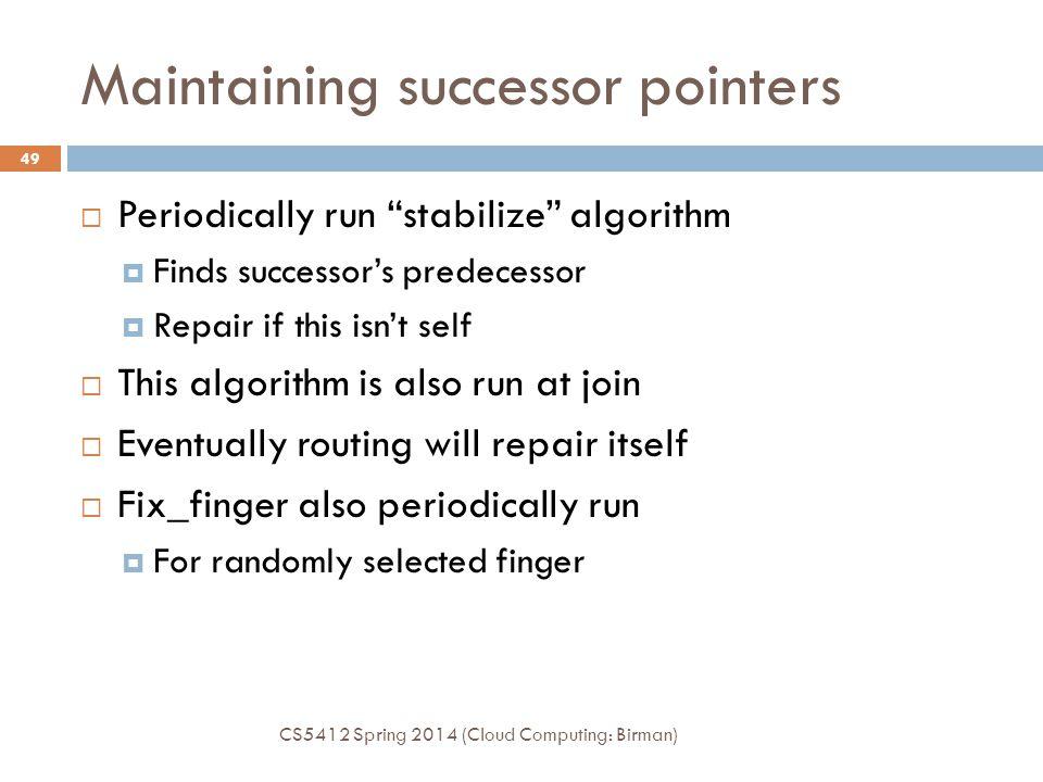 Maintaining successor pointers