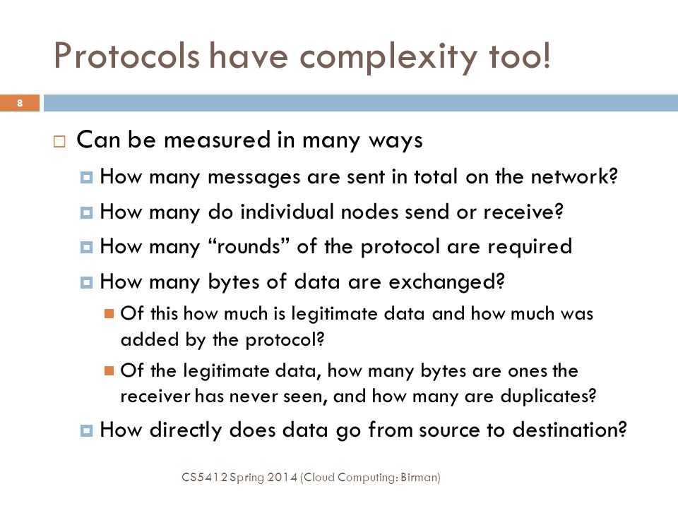 Protocols have complexity too!