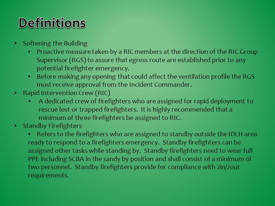 Definitions Softening the Building