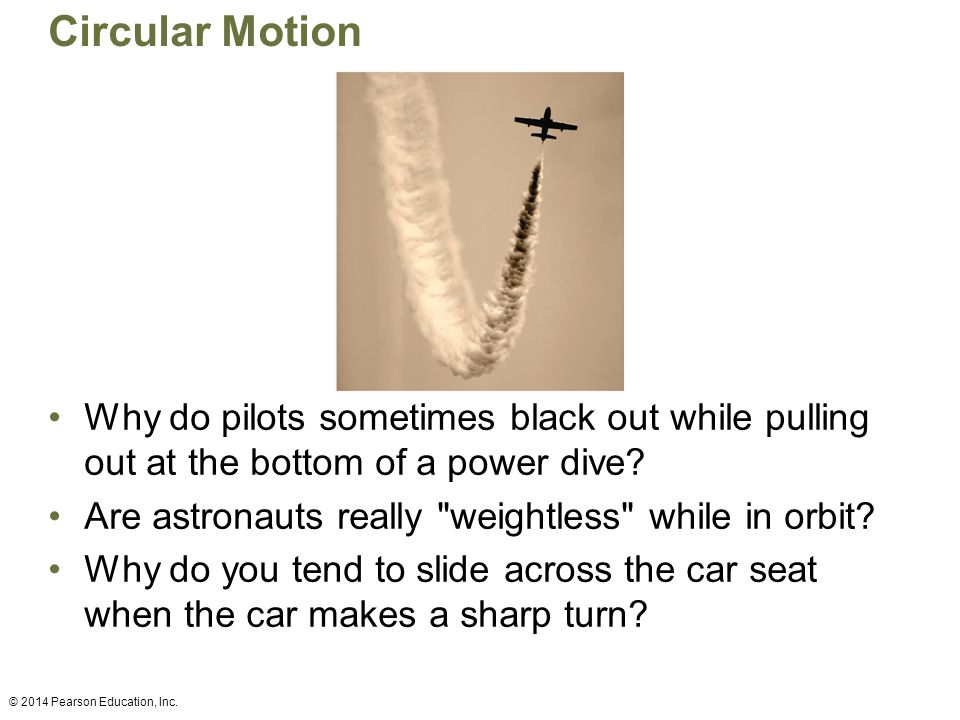 Circular Motion Why do pilots sometimes black out while pulling out at the bottom of a power dive