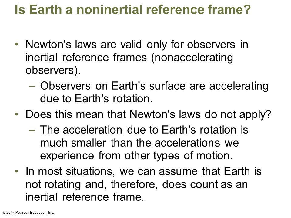 Is Earth a noninertial reference frame