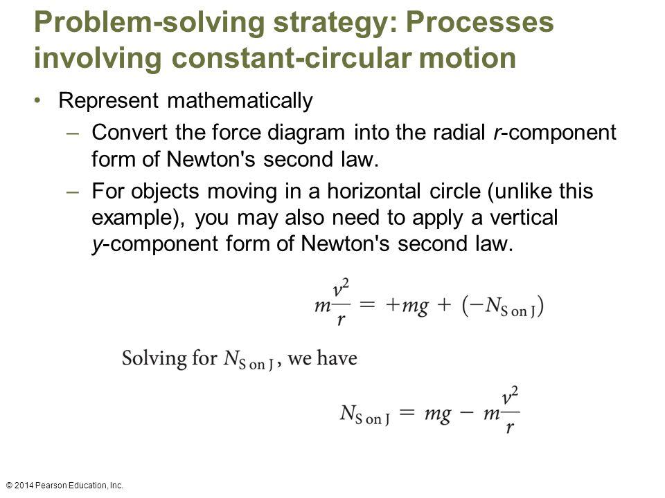 Problem-solving strategy: Processes involving constant-circular motion