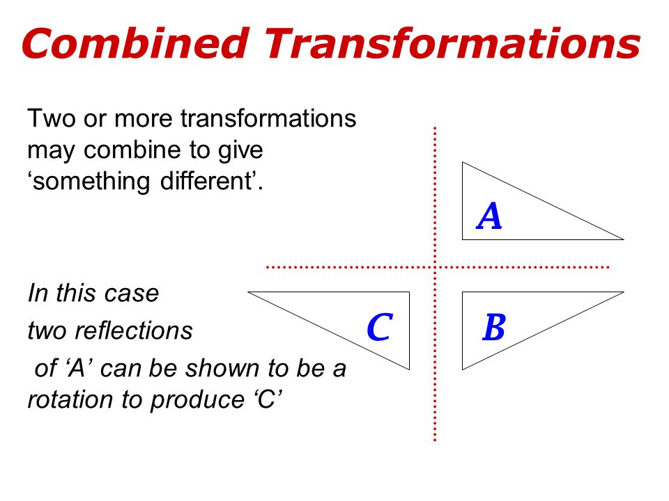 Combined Transformations