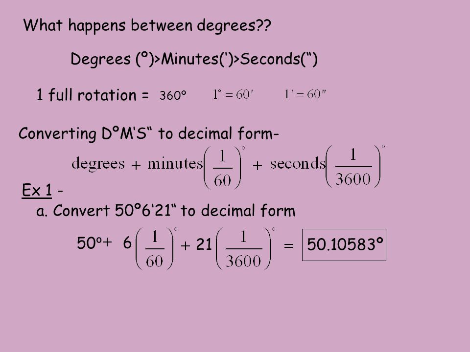 What happens between degrees