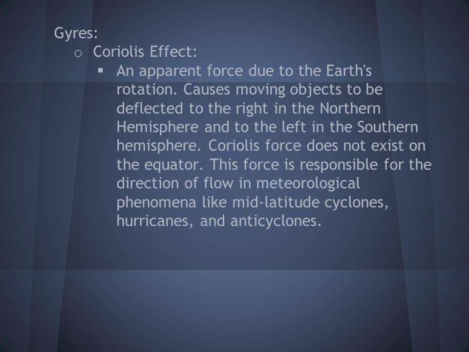 Gyres: Coriolis Effect: