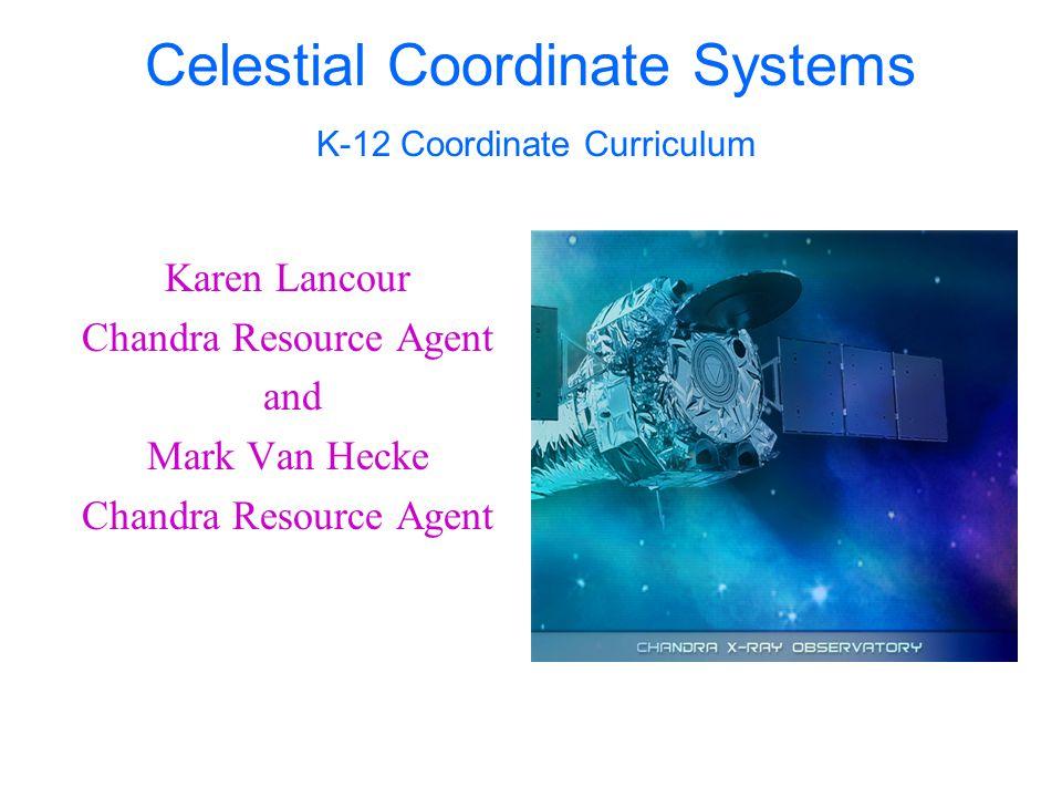 Celestial Coordinate Systems K-12 Coordinate Curriculum