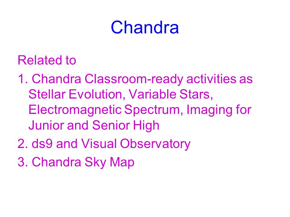 Chandra Related to.