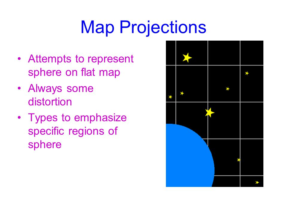 Map Projections Attempts to represent sphere on flat map