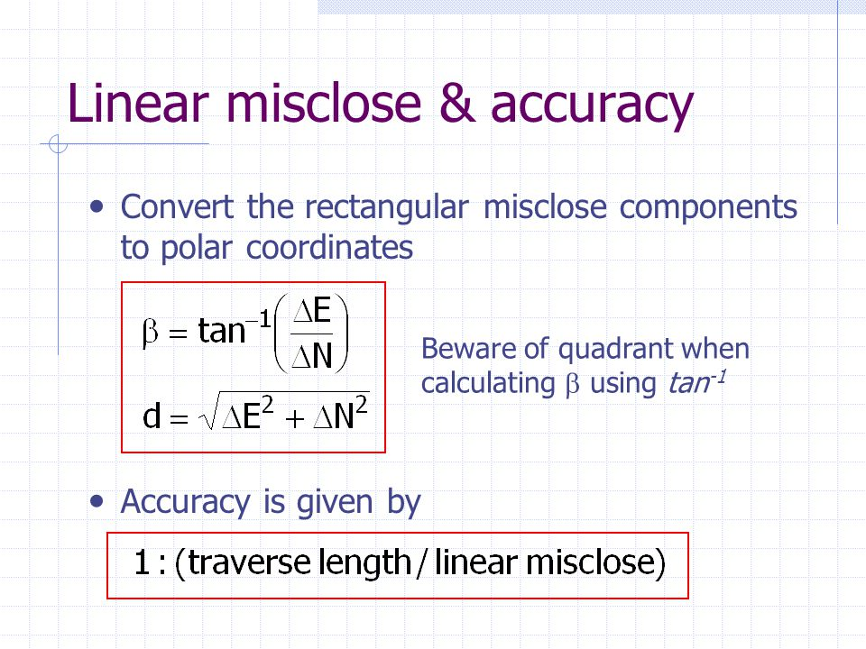 Linear misclose & accuracy