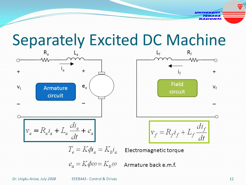 Separately Excited DC Machine