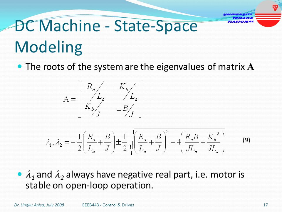 DC Machine - State-Space Modeling