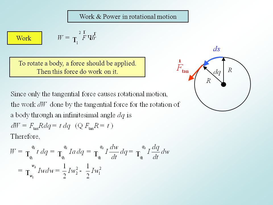 Work & Power in rotational motion