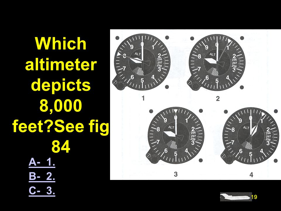 #4484. Which altimeter depicts 8,000 feet See fig 84