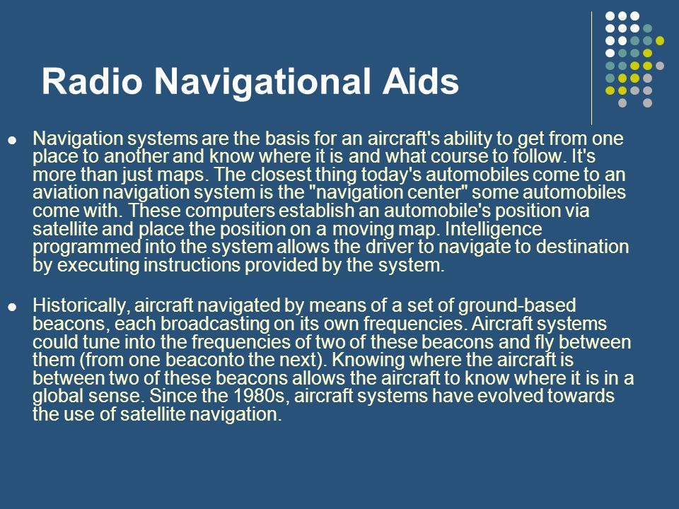 Radio Navigational Aids