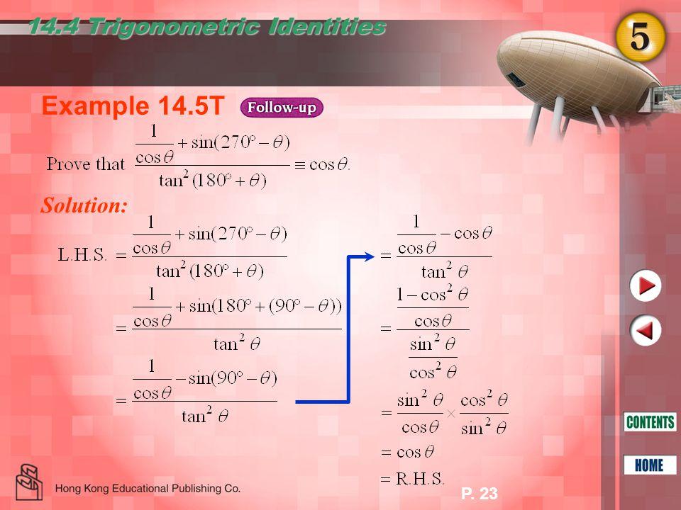 14.4 Trigonometric Identities