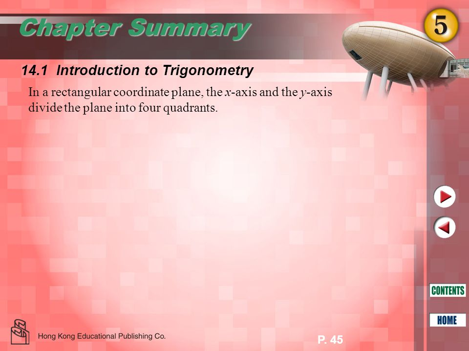 Chapter Summary 14.1 Introduction to Trigonometry