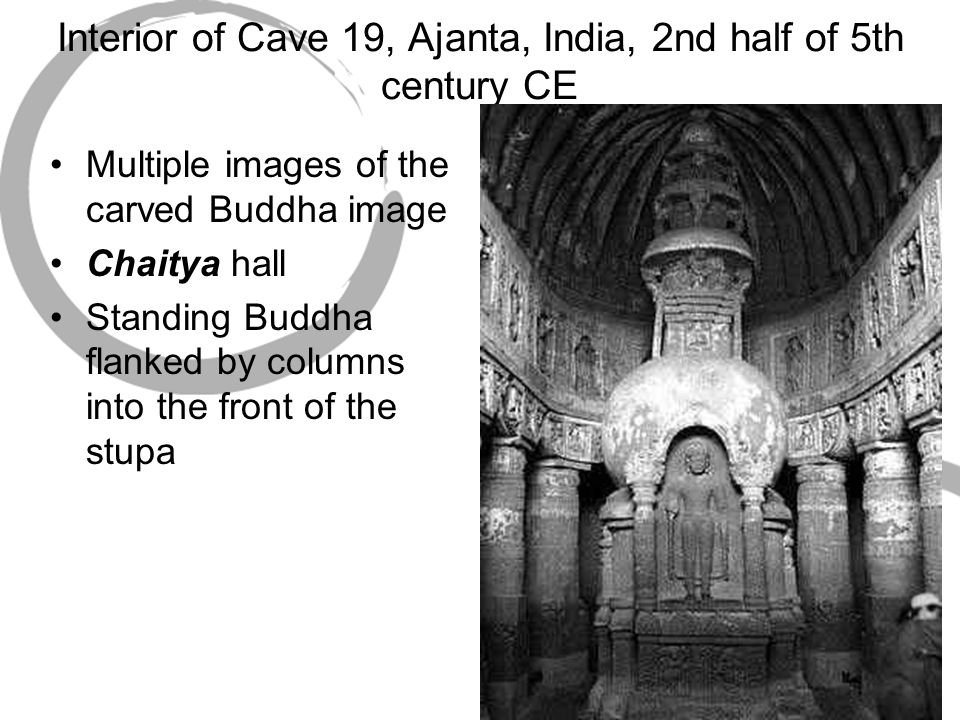 Interior of Cave 19, Ajanta, India, 2nd half of 5th century CE
