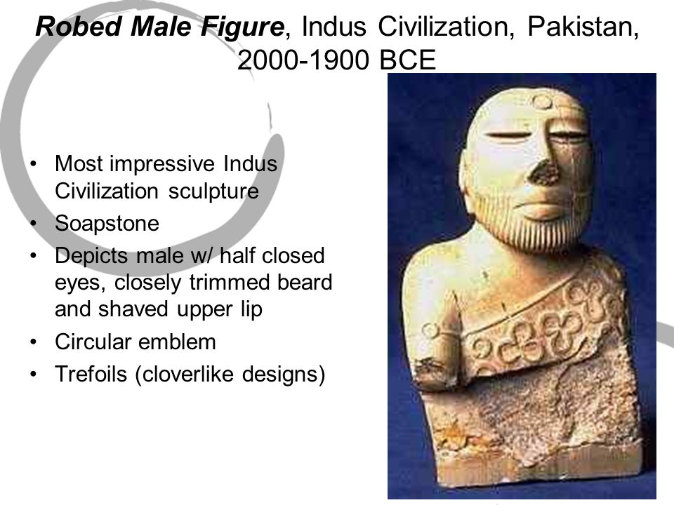 Robed Male Figure, Indus Civilization, Pakistan, 2000-1900 BCE