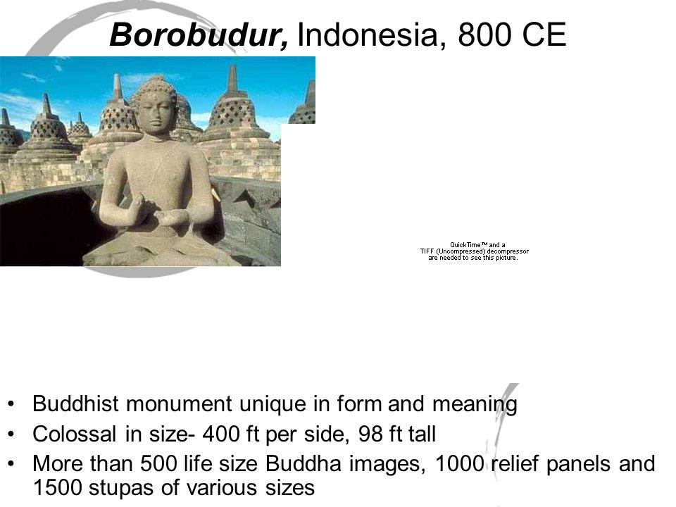 Borobudur, Indonesia, 800 CE